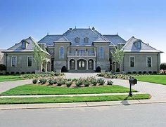 Plan Luxury, French Country, Sloping Lot, European, Photo Gallery House Plans & Home Designs Luxury House Plans, Dream House Plans, My Dream Home, Dream Homes, Big Homes, Luxury Floor Plans, Luxury Houses, Luxury Homes Interior, Home Interior Design