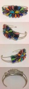 Bracelets 98496: Navajo Handmade Multi-Stone Cluster Sterling Silver Cuff Bracelet-Jw -> BUY IT NOW ONLY: $60 on eBay!