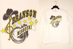 90s Branson Missouri Black and Yellow Graphic T by DCXVintage