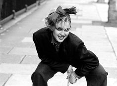 Madonna at a photo session in London, 1983. Picture from; Madonna: Ambition. Music. Style, by Caroline Sullivan, Carlton, 2014