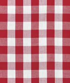 "1"" Red Gingham Fabric - $3.45 