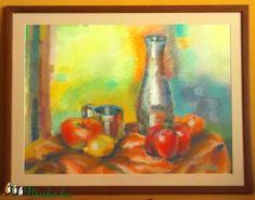 Asztalon c. pasztellkép keretezve (Nana83) - Meska.hu Diy, Painting, Do It Yourself, Bricolage, Painting Art, Paintings, Handyman Projects, Diys, Crafting