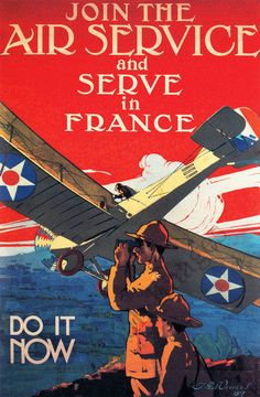 Join the Air Service in France vintage poster repro 20x30