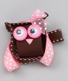 Take a look at this Brown Mrs. Owl Clip by Hair Flair on #zulily today!
