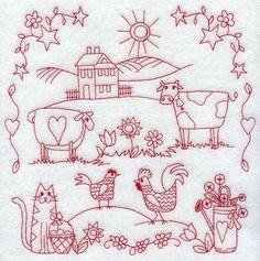 """Вышивка в стиле """"Редворк"""" - Ярмарка Мастеров - ручная работа, handmade"""