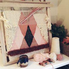 Weaving on the Loom // Maryanne Moodie www.maryannemoodie.com