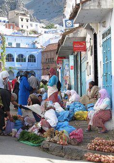 Chefchaouen, Morocco.  Photo: Sallyrango via Flickr