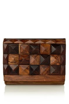 wooden clutch-beautiful, but probably more complicated than I want to make.