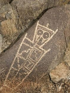 Petroglyph, Three Rivers Site, New Mexico, USA-Tom Walker-Photographic Print