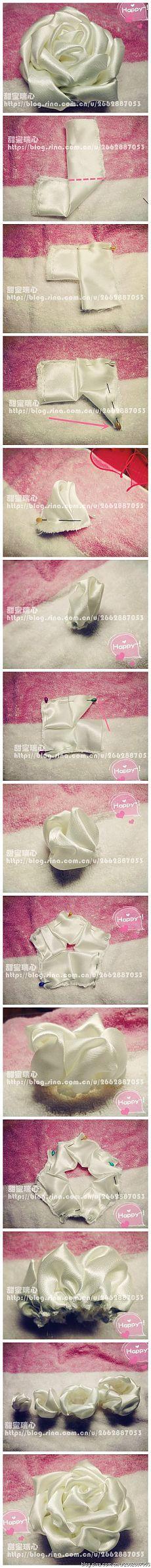 made with ribbon roses...♥ Deniz ♥: