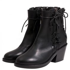 Haider Ackermann Leather Lace Up Ankle Boots