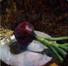 Jon Redmond, Onion Painting Still Life, Still Life Art, Vegetable Painting, Vegetable Drawing, Different Kinds Of Art, Fruit And Veg, Cool Paintings, Learn To Paint, Impressionism
