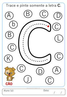 Letter Worksheets For Preschool, Alphabet Activities, Kindergarten Worksheets, Preschool Activities, Pre School, Symbols, Letters, Dots, Teaching