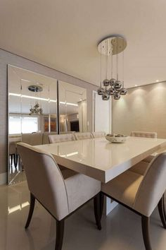 Wondering how to create the perfect dining room? All the dining room inspiration that you need to your interior design project are on this board. Take a look and let you inspiring! See more clicking on the image.