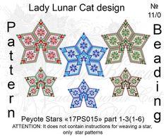 Christmas peyote patterns Stars Peyote pattern New Year seed