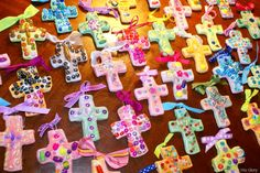 salt dough crosses - ornaments