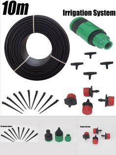 [Visit to Buy] 10m Hose 12 Droppers Home Garden Bonsai Flower Drip Irrigation System Patio Misting Cooling System Kits Micro Watering #Advertisement