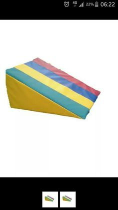 SoftPlay 'R'us PVC Foam multi coloured Wedge shape activity toy