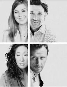 Ellen Pompeo & Patrick Dempsey / Sandra Oh & Kevin Mckidd - Grey's Anatomy