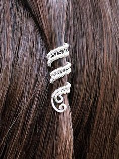 Spiral Beaded Hair Beads, Hair Jewelry for Braids and Dreads, Viking Hair Beads, Silver Beaded Hair Accessories, Viking Wedding Hair Cuffs Hair Jewelry For Braids, Dreadlock Jewelry, Loc Jewelry, Viking Jewelry, Bridal Jewelry, Beaded Jewelry, Resin Jewelry, Jewelery, Viking Braids