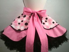 Betty the Car Hop Pin Up Apron Costume by PickedGreen on Etsy
