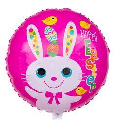 Sie suchen ein besonderes Geschenk zu Ostern? Dieser farbenfrohe Ballon mit weißem Osterhasen könnte genau die richtige Idee sein. Er kommt heliumgefüllt im Karton an.