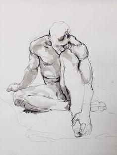 Human Figure Drawing, Figure Sketching, Life Drawing, Gesture Drawing, Painting & Drawing, Male Body Art, Art Of Man, Anatomy Art, Art Drawings Sketches