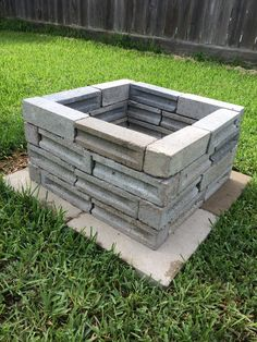 Built a back yard fire pit out of left over bricks from the house.  Cost $25 - bought four paver stones and a bucket of concrete mix.