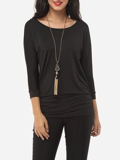 Plain Classical Round Neck Long-sleeve-t-shirt Only $10.95 USD More info...