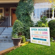 Open House Welcome Yard Sign No.4