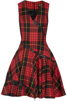 McQ Alexander McQueen Tartan wool dress | THE OUTNET