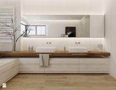 Projekt nr 6 - Duża łazienka w domu jednorodzinnym z oknem, styl nowoczesny - zdjęcie od Ewelina Witkowska Architektura Wnętrz