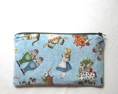 Pencil cases for writers, readers and book lovers: Alice in Wonderland vintage illustration pencil case on Etsy
