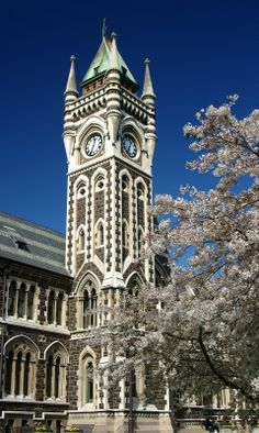 University of Otago clocktower building. this is going to be my home away from home next year. Long White Cloud, Unique Clocks, Tower Building, Australia, South Island, Small Island, Oclock, Pacific Ocean, Fiji