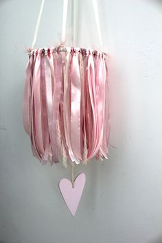 Baby Girl Mobile for Cot or Nursry Ribbon Mobile by ManniaTitta, $70.00