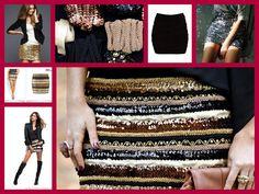 streetfashion: DIY: Falda de lentejuelas