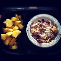 Another example of our granola, this time with Pineapple and natural greek yoghurt