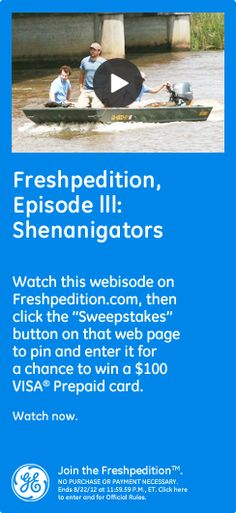 Pin for a chance to win the GE Freshpedition Sweepstakes #GEfreshNY