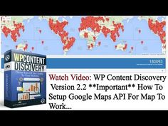WP Content Discovery Version 2.2 - **Important** How To Setup Google Maps API For Map To Work - https://www.wpcontentdiscovery.com/wp-content-discovery-version-2-2-setup-google-maps-api-map-work/  #wordpress