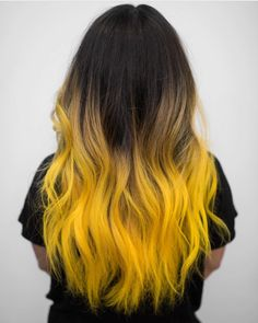 ombre yellow hair colors coolest hairs color trends in 2019 trendy hairstyles and colors 2019 women hair colors Yellow Hair Color, Ombre Hair Color, Cool Hair Color, Hair Color For Black Hair, Color Black, Black Hair Yellow Highlights, Trendy Hair Colors, Hair Colours, Brown Hair
