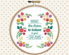 Floral cross stitch pattern pdf  instant download  digital