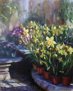 Daffodils by Mary Aslin Oil ~ 20 x 16