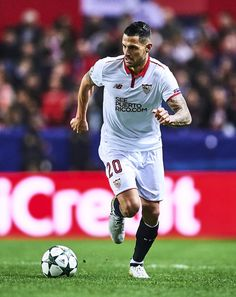 "Victor Machin Perez ""Vitolo"" of Sevilla FC in action during the UEFA Champions League match between Sevilla FC and Juventus at Estadio Ramon Sanchez Pizjuan on November 22, 2016 in Seville, Spain."