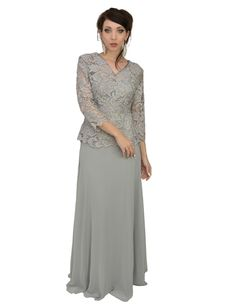 0715bdc464fcb Long Plus Size Mother of the Bride Evening Gown Groom-The Dress Outlet Mob  Dresses