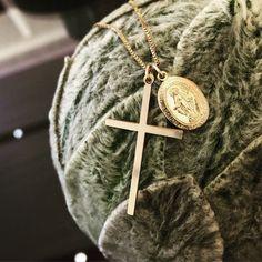 "Etsy のGoldfielld Necklace ""Grace cross"" k14goldfilled ,charis,japan,gold,pendant,charm, gemstone(ショップ名:CHARISJewelry)"