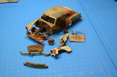 Pro Built 1951 51 Chevy Deluxe Fleetline Weathered Rusted Junker Unearthed | eBay