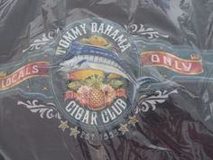 """TOMMY BAHAMA RELAX TEE  """"CIGAR CLUB LOCALS ONLY"""" BLACK LARGE #TommyBahama #CasualTee"""