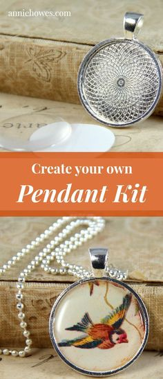 Fun DIY pendant necklace idea.