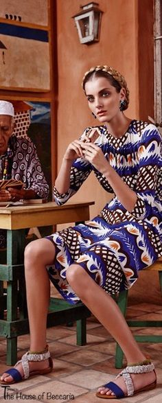 ~Marie Claire March 2013 editorial: Sandals by Carven; earrings by Erikson Beamon | The House of Beccaria