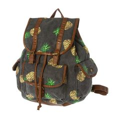 Take summertime vibes with you back to school with our pineapple print bag!
